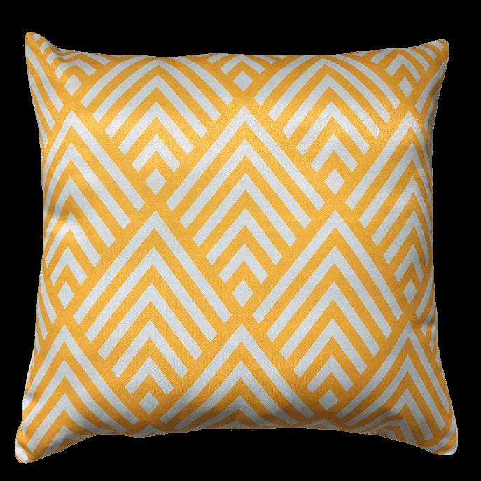 Capa de Almofada Seta Amarela 45x45 Cm