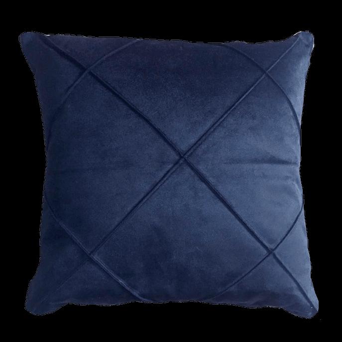 Capa de Almofada Suede Azul Drapeada 50x50 Cm