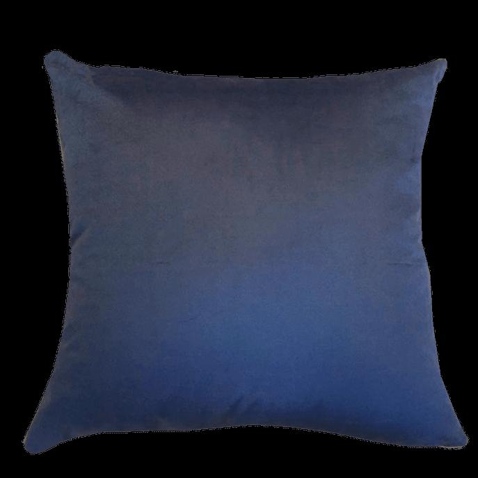 Capa de Almofada Suede Azul Marinho 45x45 Cm