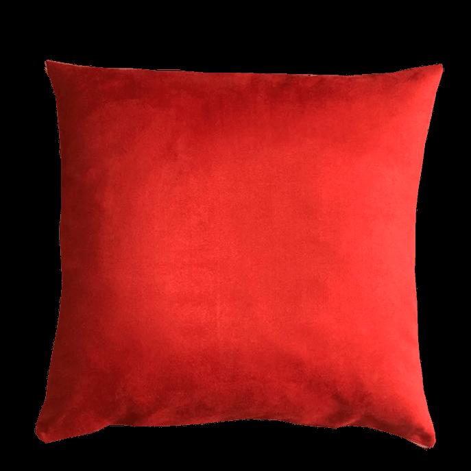 Capa de Almofada Vermelha Aveludada 45x45 Cm