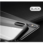 Capa Iphone X Xs Baseus See-through Glass + Pelicula de Vidro - Case Transparente com Borda Preta