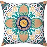 Capa para Almofada Arabesco 35 Colorida Poliéster (40x40cm) - Haus For Fun