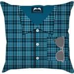 Capa para Almofada Mr. Moustache Azul Poliéster (40x40cm) - Haus For Fun