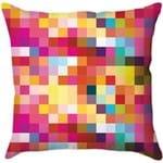 Capa para Almofada Pixels 1 Colorida Poliéster (40x40cm) - Haus For Fun
