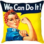 Capa para Almofada We Can do It Colorida Poliéster (40x40cm) - Haus For Fun