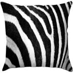 Capa para Almofada Zebra Preta/Branca Poliéster (40x40cm) - Haus For Fun
