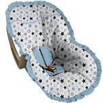 Capa para Bebe Conforto Estrelas Azuis e Pretas - Soninho de Bebê
