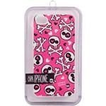 Capa para Iphone 4 e 4S Skin Love Punk Silicone - Uatt?