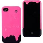 Capa para Iphone 4 e 4S Tinta Pink Silicone - Uatt?