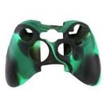 Capa Silicone P/ Controle Xbox 360 Verde Preto