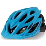 Capacete Ciclismo Absolute Wild Azul/pto Fosco C/ Luz de Led - M/g