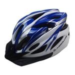 Capacete Ciclismo Absolute WT012 com Pisca Branco e AZUL