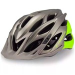 Capacete Ciclismo Bicicleta Absolute Wild Cinza/verde M