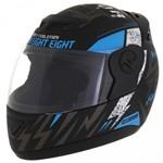 Capacete Evol. G6 788 Factory Racing Neon Azul - Tam58
