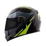 Capacete Ls2 Ff358 Touring Preto Gry Flo Yellow 54