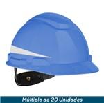 Capacete 3M H-700 Refletivo Azul Claro Ajst Fácil