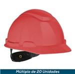 Capacete 3M H-700 Vermelho Ajst Fácil
