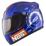 Capacete Mini Pro Tork Nos Top Speed ( Enfeite e Decoração ) Azul-Laranja Único