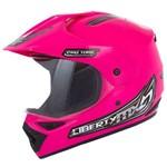 Capacete Moto Feminino Motocross com Viseira Rosa Pro Tork