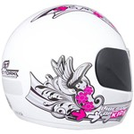 Capacete Moto Infantil Pro Tork For Girl Tam. 54 Branco