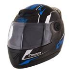 Capacete Moto Preto/azul Evolution G5 60