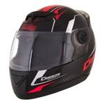Capacete Moto Preto/vermelho Evolution G5 58