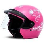 Capacete Moto Rosa Three Girls 58