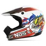 Capacete Motocross Pro Tork Th1 Nos Branco