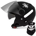 Capacete New Atomic Skull Riders Preto/Laranja Tam. 60