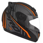 Capacete Pro Tork Evolution G6 788 Pro Neon Preto Laranja Moto