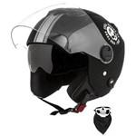 Capacete Pro Tork New Atomic Skull Riders com Viseira Solar