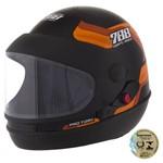 Capacete Sport Fechado Moto 788 Preto e Laranja Pro Tork 60
