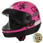 Capacete Sport Moto For Girls Rosa Pro Tork