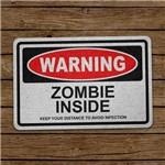 Capacho Ecológico Warning Zombie Inside