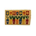 Capacho Fibra de Coco 60x40cm Flores Coisas e Coisinhas