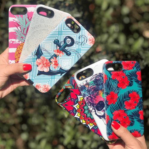 Capinha Anti-Impacto New Desenhos Femininos Exclusivos - Estampas Sortidas Galaxy A8 2018