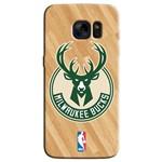 Capinha de Celular NBA - Samsung Galaxy S6 Edge - Milwaukee Bucks - NBAB19