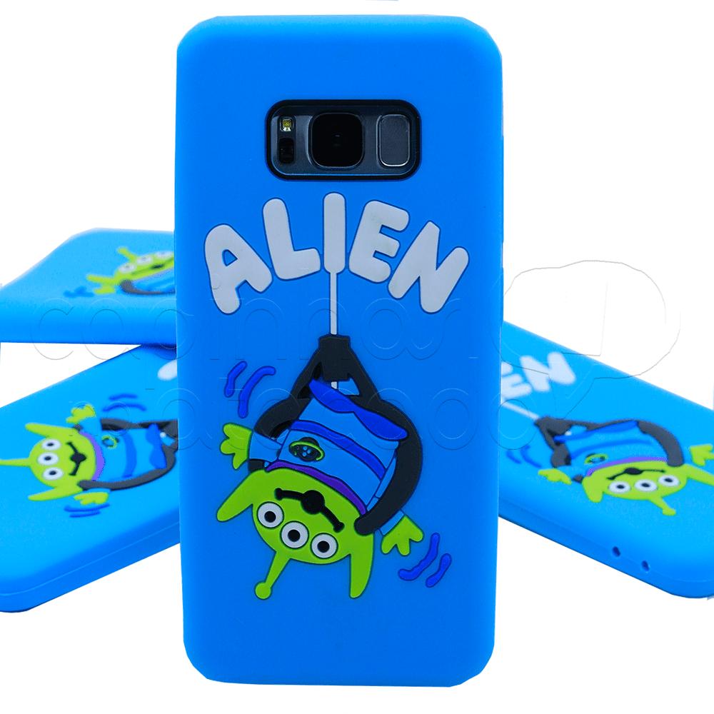 Capinha de Silicone 3D Alien Galaxy S7 Edge