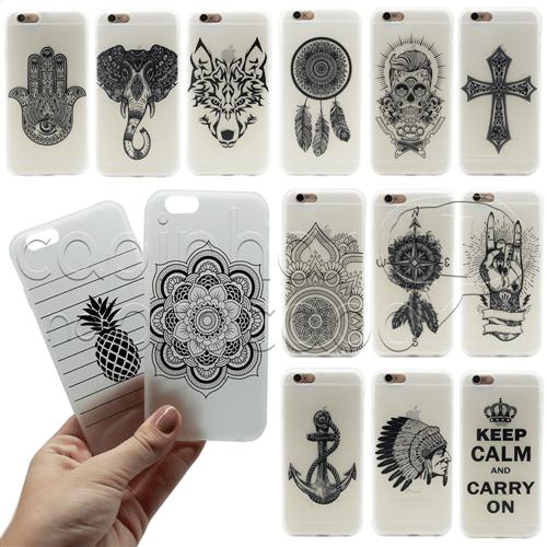Capinha de Silicone Tattoo - Estampas Sortidas IPhone 5 / 5s / SE