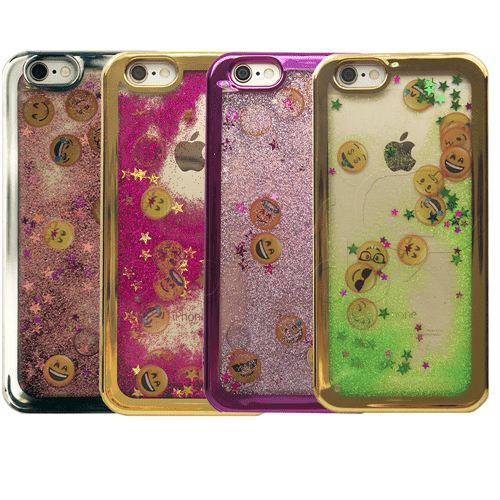 Capinha Emoji Liquid Glitter - Cores Sortidas - LG LG K4