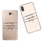 Capinha Personalizada - Amor, Saúde e Paz Galaxy J2 Prime