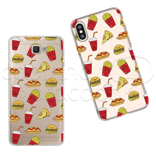 Capinha Personalizada - Fast Food Galaxy J2 Prime