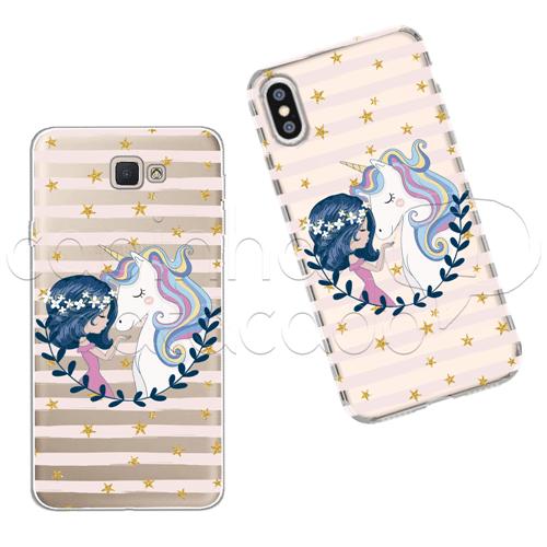 Capinha Personalizada - Girl And Unicorn Galaxy J2 Prime