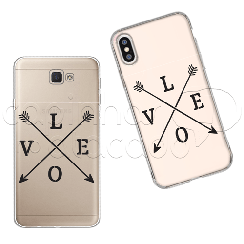 Capinha Personalizada - Love Flechas Galaxy J2 Prime