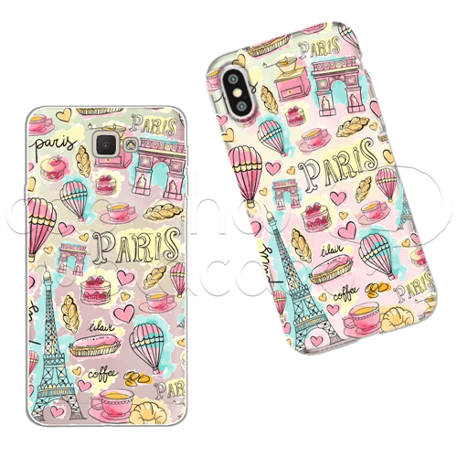 Capinha Personalizada - Pattern Colors Paris Galaxy J2 Prime