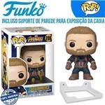 Capitão America Avengers Vingadores Funko Pop #288 + Suporte de Parede