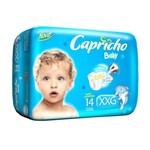Capricho Baby Prática Fralda Infantil Xxg C/14