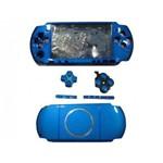 Carcaça Completa P/ Sony Psp Slim 3000 Cor Azul