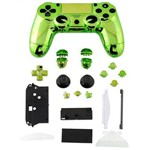 Carcaça Cromada para Controle Mod Jdm-001, Jdm-011 e Jdm-020 para Playstation 4 Play 4 Ps4 Verde