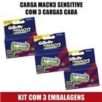 Carga Gillette Mach3 Sensitive 3 Cargas